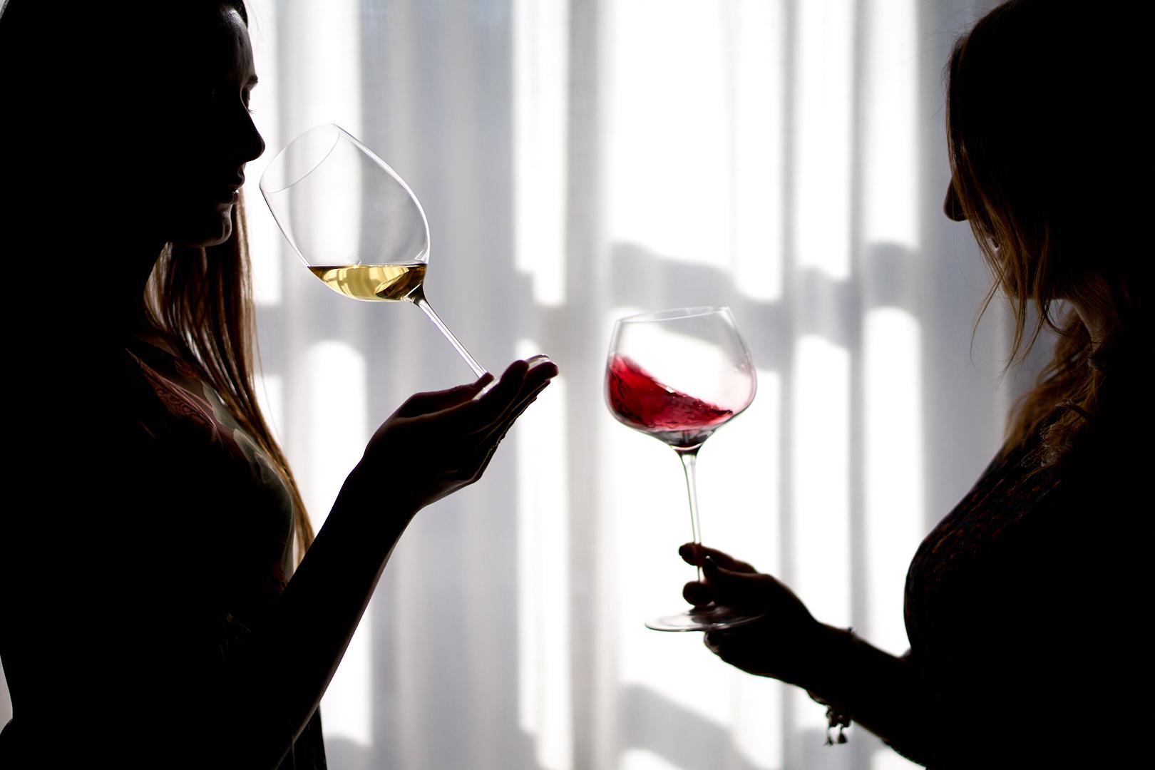 Dégustation de vin par des femmes