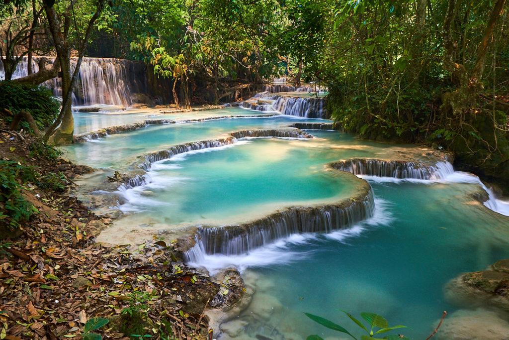 Pvk Photo | Les chutes de Kuang Si, Luang Prabang, Laos