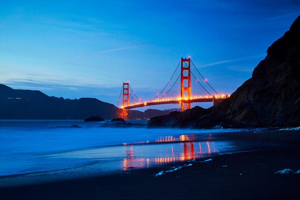 Golden Gate Bridge, San Francisco depuis Baker Beach
