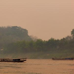 Pvk | Photo Pirogues sur le Mekong, Laos